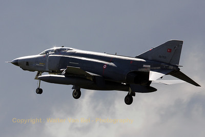 Turkish Air Force RF-4E Phantom II (69-7521; cn4169), from 173 Filo, arriving at leeuwarden AFB in between two thunderstorms.