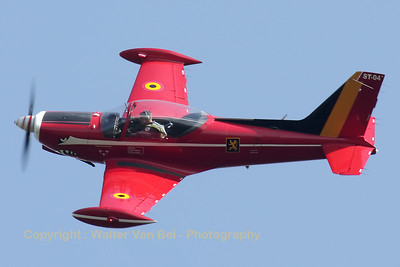 "The leader of the Belgian Air Force demo-team - the ""Red Devils"" - in action over EBLE, during the 2012 Sanicole-Airshow."