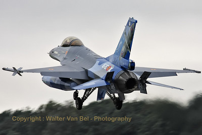 Flagship of 349Sqn (FA-110) recovers to Kleine Brogel.