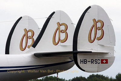 Tail close-up of breitling's L-1049F Super Constellation (HB-RSC, cn4175), present at the spottersday at KB, prior to the Sanicole Airshow 2013.