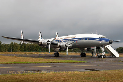 Breitling's L-1049F Super Constellation (HB-RSC, cn4175), present at the spottersday at KB, prior to the Sanicole Airshow 2013.