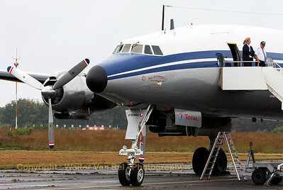"The ""Star of Switserland"", Breitling's L-1049F Super Constellation (HB-RSC, cn4175), present at the spottersday at KB, prior to the Sanicole Airshow 2013."