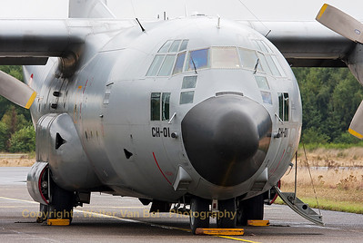 This Belgian Air Force C-130H (CH-01, cn382-4455) could be seen in the static parc during the spottersday at KB, prior to the Sanicole Airshow 2013.