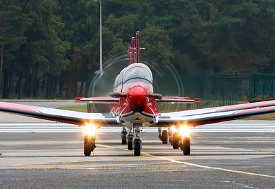 "Arrival of the Swiss Air Force ""PC-7 Team"" at KB. Closest to the camera is A-933 (cn341), followed by A-928 and A-915."