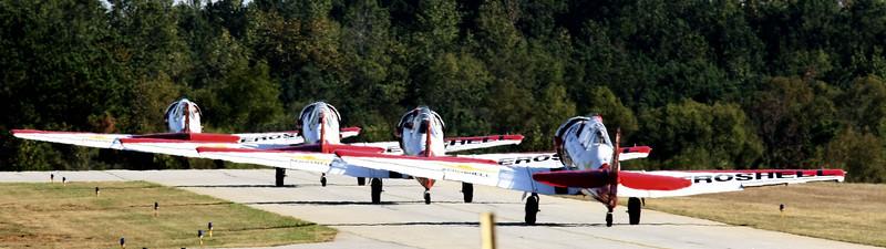 Aeroshell T-6 Texan Demonstration Team 2007