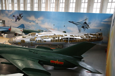 Harbin H-5, 4149, Chinese-built version of the Russian Ilyushin Il-28 'Beagle' medium bomber, displayed minus Port wing and much of the fuselage cut away - 20/01/18.