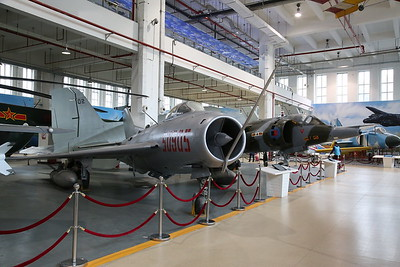 Shenyang J-6III, 50905, Chinese-built version of the Russian MiG-19 'Farmer' fighter & ex-RAF Hawker-Siddeley Harrier GR3, XZ965 - 20/01/18.