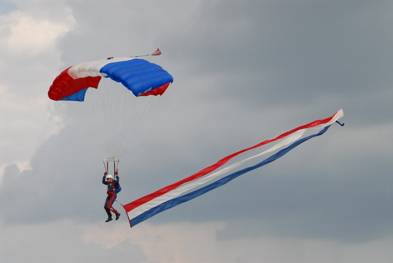 Though it was largely overcast, we had more than enough sunlight to highlight the skydivers.