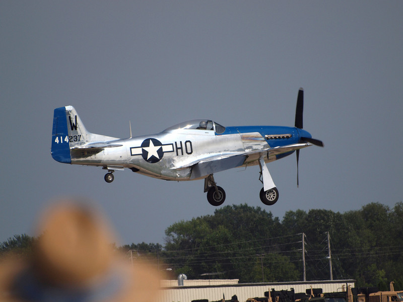 P-51D landing at AirVenture - 27 July 2010