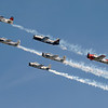 T-28 Trojans in formation at AirVenture - 27 July 2010