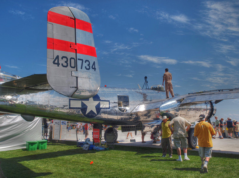 "B-25 ""Panchito"" at AirVenture - HDR - 26 July 2010"