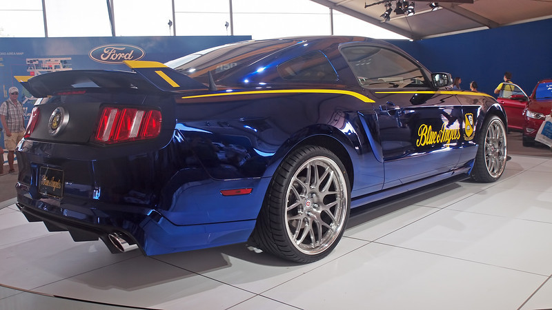 Ford's Blue Angels Mustang at AirVenture - 30 July 2011