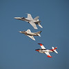 F/A-18 Hornet, A-4 Skyhawk and T-4 Buckeye at AirVenture - 28 July 2012