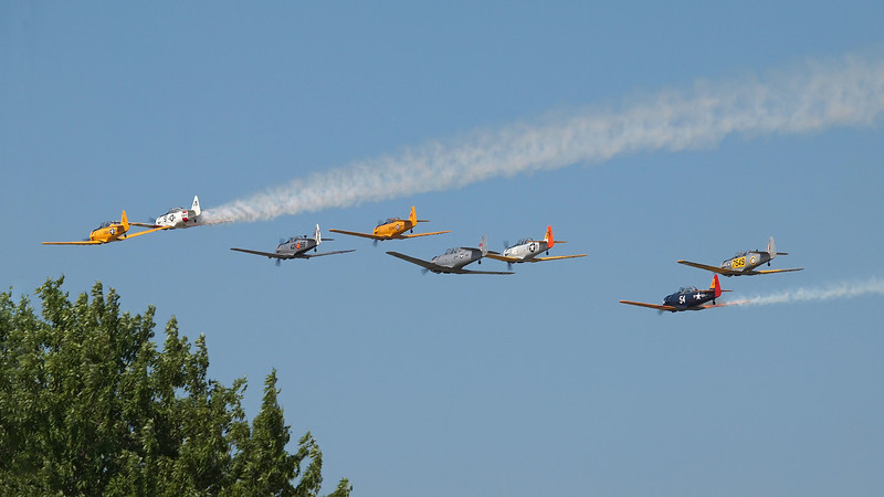 T-6 Formation at AirVenture - 28 July 2012