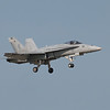 US Navy F/A-18 Hornet in slow flight at AirVenture - 28 July 2012