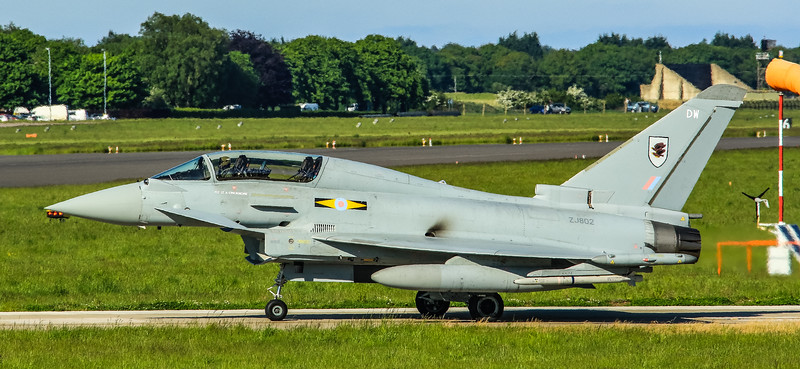 Eurofighter Typhoon - T3 - ZJ802 - DW - 11th Sqn - RAF Coningsby (May 2016)