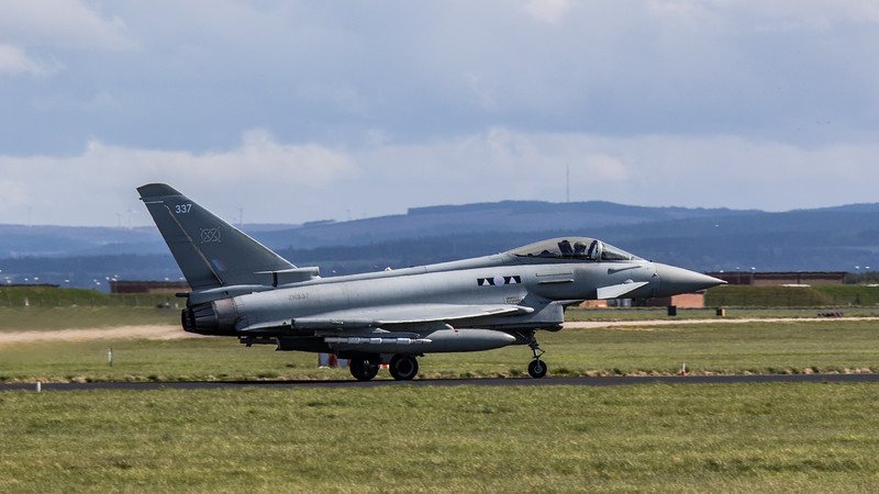 Eurofighter Typhoon - FGR4 - ZK337 - 337 - 2nd Sqn - RAF Lossiemouth (May 2018)