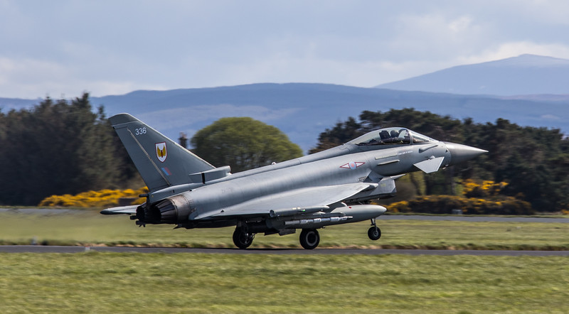 Eurofighter Typhoon - FGR4 - ZK336 - 336 - 1st Sqn - RAF Lossiemouth (May 2018)