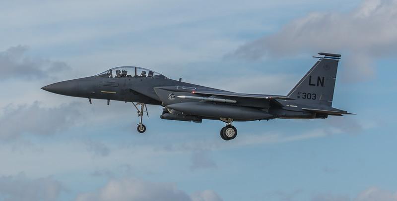 F15-E Strike Eagle - 48FW - 492FS - LN AF 91-0303 - RAF Lakenheath (March 2019)