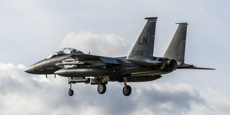 F15-E Strike Eagle - 48FW - 492FS - LN AF 91-0302 - RAF Lakenheath (March 2019)
