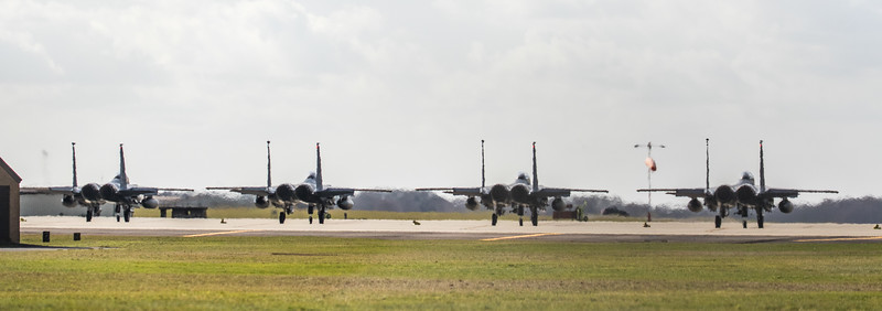 F15-E Strike Eagle - 48FW - 492FS - RAF Lakenheath (March 2019)