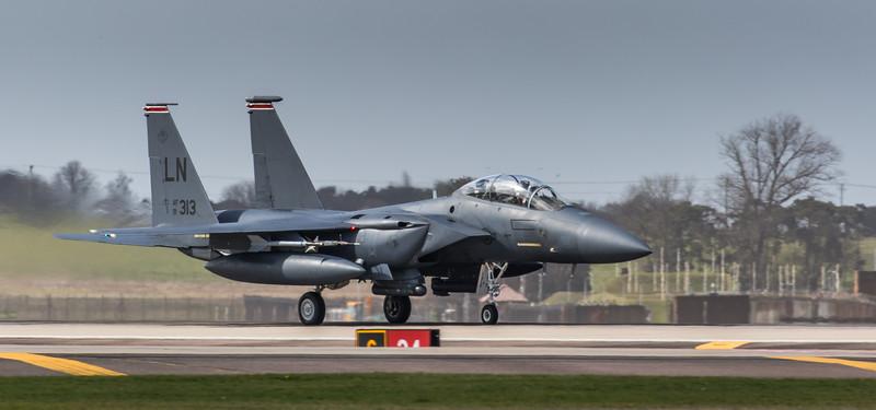 F15-E Strike Eagle - 48FW - 494FS - LN AF 91-0313 - RAF Lakenheath (March 2019)