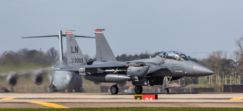 F15-E Strike Eagle - 48FW - 494FS - LN AF 01-2003 - RAF Lakenheath (March 2019)