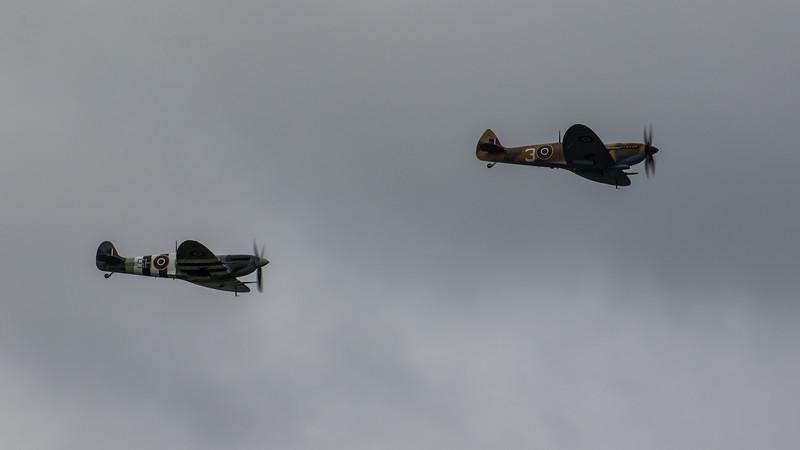 BBMF - Supermarine Spitfire - AB910 & MK356 - RAF Coningsby (June 2020)