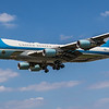 """Boeing VC-25A - 82-8000 - """"Airforce 1"""" - AF1 - Rwy27L - Arrival from Newquay - Heathrow Airport (June 2021)"""