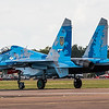 Sukhoi Su-27 - Flanker - Ukrainian Airforce - RIAT Arrivals - RAF Fairford (July 2017)