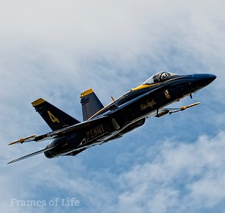 Blue Angel F/A 18 in Steep Climb