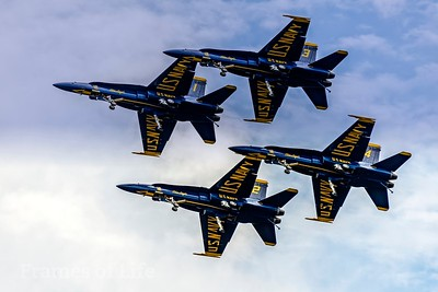 Blue Angels Gear Down Fly-By