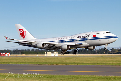 Air China 747 carrying a Chinese Government Delegation