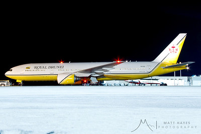 Royal Brunei on a Military Troop Charter