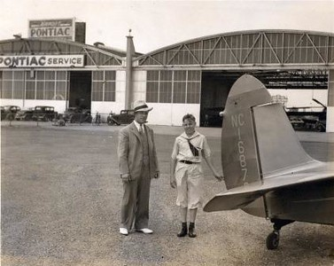 Earl Johnson and Woody Edmondson at Airport in New Jersey (02233)