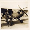 Dr. Merlyn Stephens with Aircraft, ca. 1948 (06608)