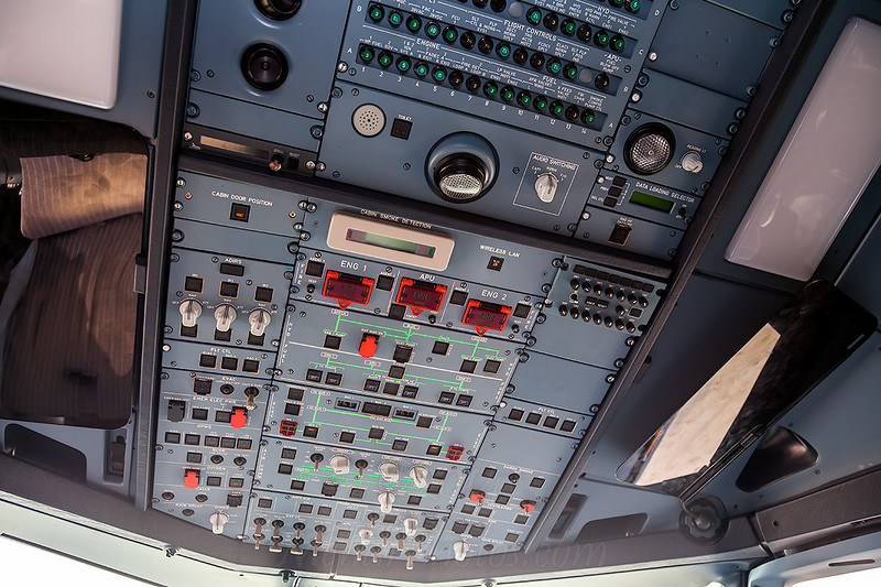 Cockpit shot of AJA - Al Jaber Aviation A6-AJC A318