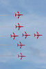 The Red Arrows display team (BAE Hawks) at Sunderland Airshow