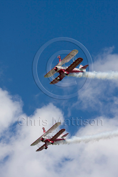 Boeing Stearman PT-17 Kaydets of the Team Guinot display team, at Sywell