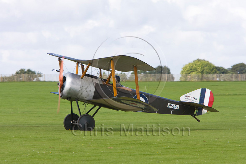 Replica First World War Sopwith fighter, at Sywell.