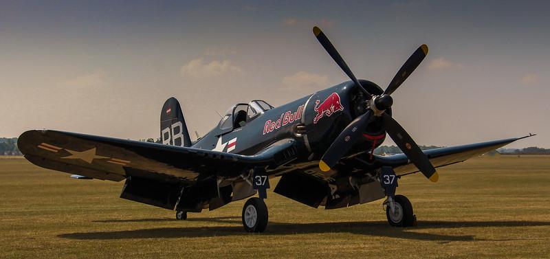 Red Bull F4U-4 Corsair - Duxford (July 2013)