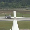 F-22 Raptor taxiing and departing