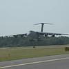 C-5 Galaxy arriving for the show