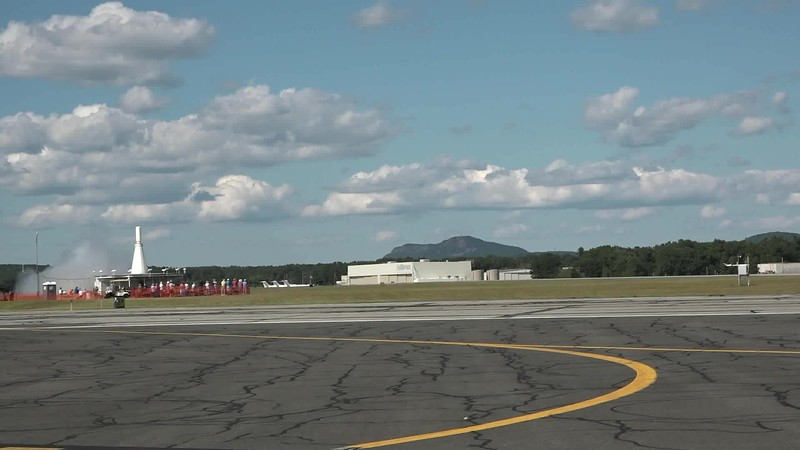 U.S.A.F. Thunderbirds taking off
