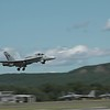 two F/A-18 Hornets departing the airshow