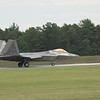F-22 Raptor on arrival for the show
