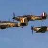 Hurricane Formation Flying (Sea Hurricane Z7015 & Huricane Mk1 R4118 & P3717)
