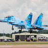 Sukhoi Su-27 - Flanker - Ukrainian Airforce - RIAT Arrivals - RAF Fairford (July 2017)