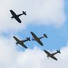 BBMF - Spitfire & Hurricane Display - RIAT - RAF Fairford (July 2017)
