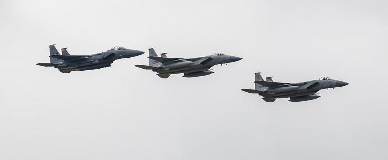 F15 C Eagle & F15 E Strike Eagle - RIAT - RAF Fairford (July 2017)